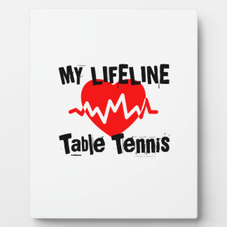 My Life Line Table Tennis Sports Designs Plaque