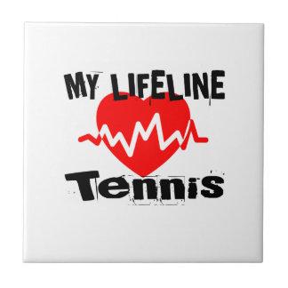 My Life Line Tennis Sports Designs Tile
