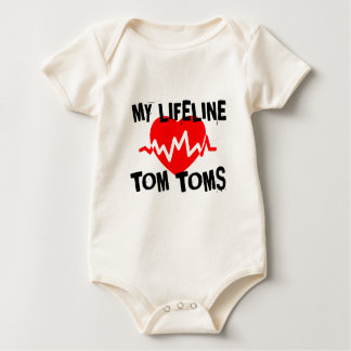 MY LIFE LINE TOM TOMS MUSIC DESIGNS BABY BODYSUIT