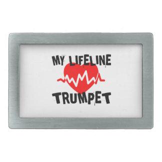 MY LIFE LINE TRUMPET MUSIC DESIGNS BELT BUCKLE