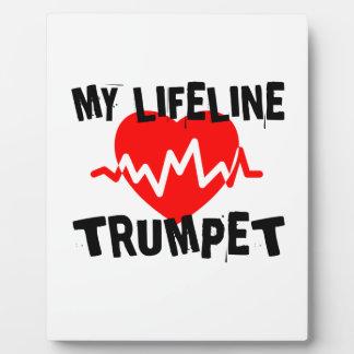 MY LIFE LINE TRUMPET MUSIC DESIGNS PLAQUE