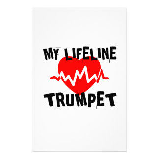 MY LIFE LINE TRUMPET MUSIC DESIGNS STATIONERY