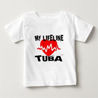 MY LIFE LINE TUBA MUSIC DESIGNS BABY T-Shirt