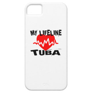 MY LIFE LINE TUBA MUSIC DESIGNS BARELY THERE iPhone 5 CASE