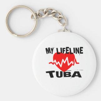 MY LIFE LINE TUBA MUSIC DESIGNS KEY RING