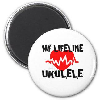 MY LIFE LINE UKULELE MUSIC DESIGNS MAGNET