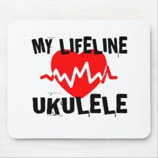 MY LIFE LINE UKULELE MUSIC DESIGNS MOUSE PAD