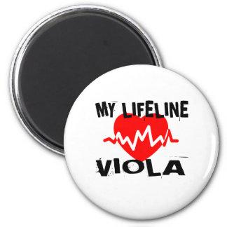 MY LIFE LINE VIOLA MUSIC DESIGNS MAGNET