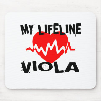 MY LIFE LINE VIOLA MUSIC DESIGNS MOUSE PAD