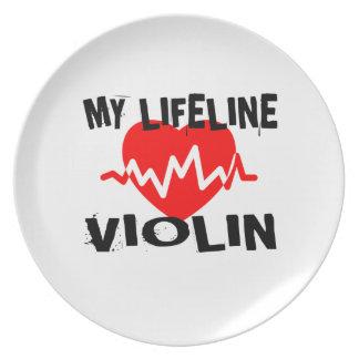 MY LIFE LINE VIOLIN MUSIC DESIGNS PLATE