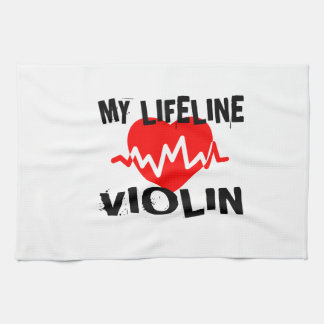 MY LIFE LINE VIOLIN MUSIC DESIGNS TEA TOWEL