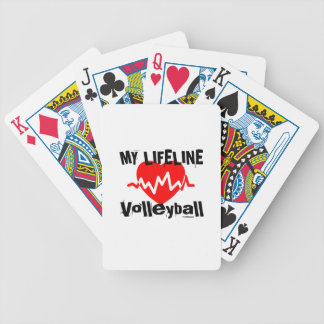 My Life Line Volleyball Sports Designs Bicycle Playing Cards