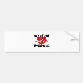 My Life Line Volleyball Sports Designs Bumper Sticker