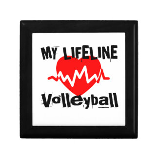 My Life Line Volleyball Sports Designs Gift Box