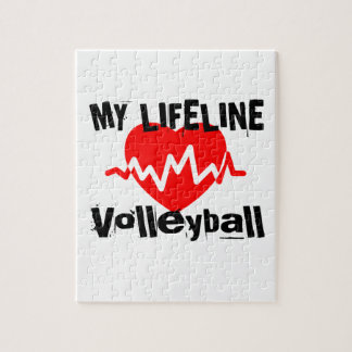 My Life Line Volleyball Sports Designs Jigsaw Puzzle