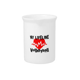 My Life Line Volleyball Sports Designs Pitcher