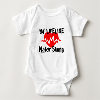My Life Line Water Skiing Sports Designs Baby Bodysuit