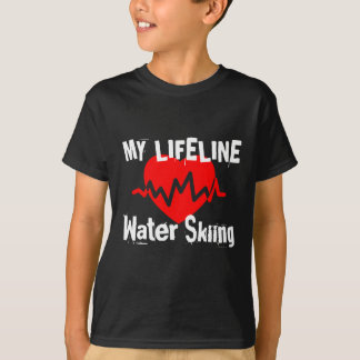 My Life Line Water Skiing Sports Designs T-Shirt