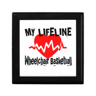 My Life Line Wheelchair Basketball Sports Designs Gift Box