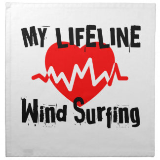 My Life Line  Wind Surfing Sports Designs Napkin