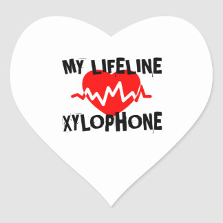 MY LIFE LINE XYLOPHONE MUSIC DESIGNS HEART STICKER