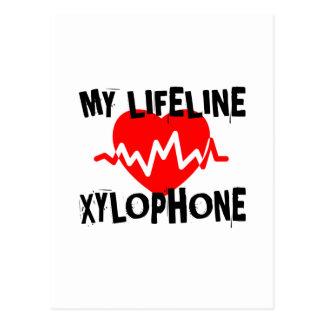 MY LIFE LINE XYLOPHONE MUSIC DESIGNS POSTCARD