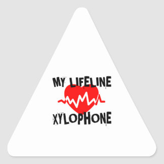 MY LIFE LINE XYLOPHONE MUSIC DESIGNS TRIANGLE STICKER