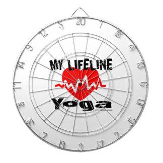 My Life Line Yoga Sports Designs Dartboard