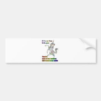 My Li'l Unicorn Bumper Stickers