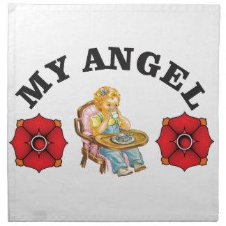 my little angel napkin