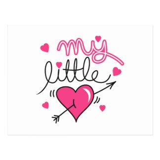 My little, heart, kid, love postcard