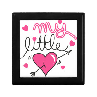 My little, heart, kid, love small square gift box