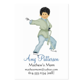 My Little Karate Mommy Cards Pack Of Chubby Business Cards