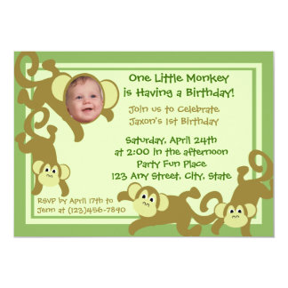 My Little Monkey Card
