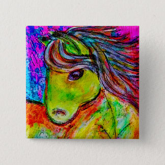 my little neon pony 15 cm square badge