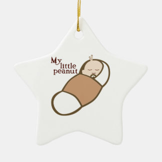 MY LITTLE PEANUT CERAMIC STAR DECORATION