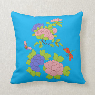 My little peony square throw pillow