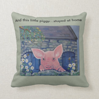 "My Little Piggy ""cute pig"" customise Cushion"