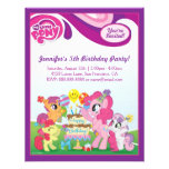 My Little Pony  Birthday Party Custom Announcement