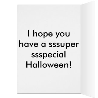 My Little Python Halloween card