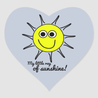 My little ray of sunshine with smile and the sun heart sticker
