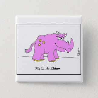 My Little Rhino 15 Cm Square Badge