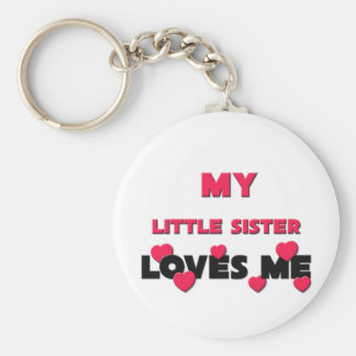 My Little Sister Loves Me Basic Round Button Key Ring