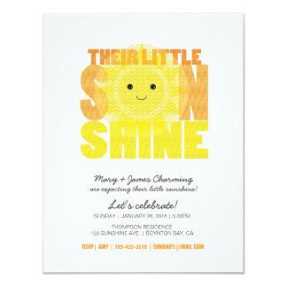 my LITTLE SUNSHINE baby shower Card