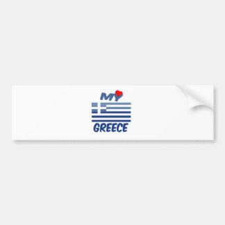 My Love Greece Bumper Stickers