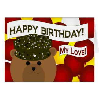My Love - Happy Birthday Army Soldier Boyfriend! Greeting Card