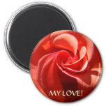MY LOVE! Magnet Rose Valentine Day gift Magnet