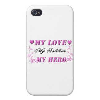 My Love My Soldier My Hero iPhone 4 Cover