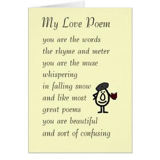 My Love Poem Card