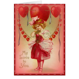 My Love to You - Vintage Valentine Card